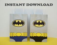 Teen Titans Go Party FAVOR BAGS/ Teen Titans Birthday Party | Etsy Batman Party Favors, Party Favor Bags, Birthday Party Favors, Goodie Bags, Birthday Parties, Batman Invitations, Batman Birthday, 3rd Birthday, Candy Bags