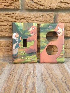 Brother Bear Light Switch and Electrical Cover (11.00 USD) by Hippiemysticstudio