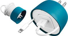 PowerCurl Power Adapter & Mini Earbud Organizer For iPhone