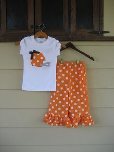 Football Helmet Appliqued Shirt with Ruffle Pants - sizes 6m to 5T - long or short sleeves......PERFECT FOR FOOTBALL Season. $35.00, via Etsy.