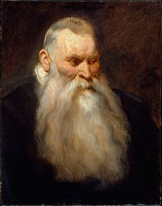 Study Head of an Old Man with a White Beard - 1617-20,  Anthony van Dyck / This study of an old man was once considered to be by Rubens, but it is now widely recognized as a work by the young Van Dyck around 1617–20.