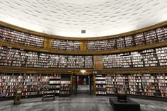 Stockholm Public Library includes more than 2 million volumes and 2.4 million audio tapes, CDs and audio books.