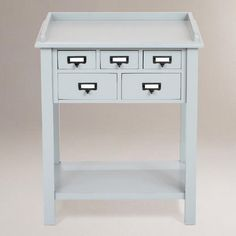 One of my favorite discoveries at WorldMarket.com: Preston 5-Drawer Table