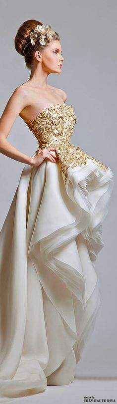 Krikor Jabotian Couture ~Latest Trendy Luxurious Women's Fashion - Haute Couture - dresses, jackets, bags, jewellery, shoes
