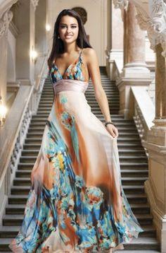 Beautiful flowy flower gown