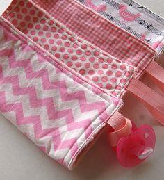 Mini Minky binky Blanket. Chevron. dots. by Maxinessewnsew on Etsy #chevronblanket #pinkminky #pinklovey