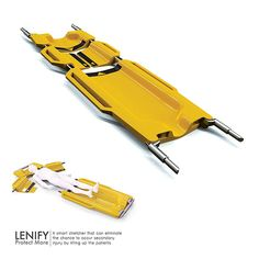James Dyson Award 2013, Shortlisted entries >> Lenify is a smart stretcher that is designed to eliminate the chances for secondary injuries to occur while lifting and moving the patients to the canvas. Designer: Ta-Chin Lin | via Yanko Design