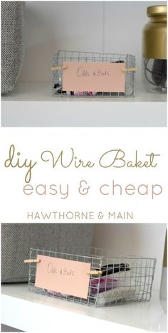 This wire basket is so easy to assemble.  Imagine all of the different sizes you could make!! Get all the details at www.hawthorneandmain.com