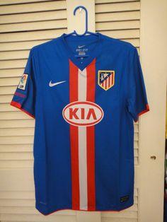 Atletico Madrid away kit Football Cards, Football Shirts, Football Players, Everton Fc, Vintage Shirts, Kit, Classic, Tops, Design