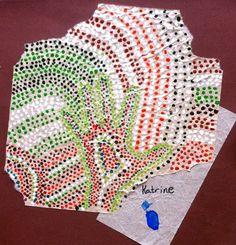 Art aborig�ne fait de trois ann�es