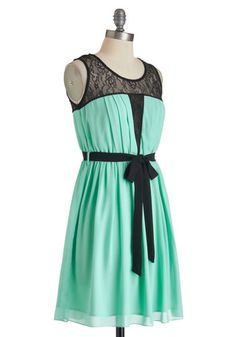 The Mo-Mint Is Yours Dress, #ModCloth