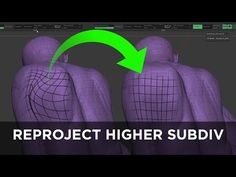 Character Art Tip: ZBrush Reproject Higher Subdiv - YouTube