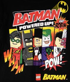 Boy's Lego Batman Graphic T-Shirt Long Sleeve 5/6 EUC #LegoBatman #Everyday