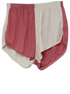 1980's Womens Shorts  80s -Sportco- Womens pink and off white nylon blend high waist running shorts with elastic waistline and notched side hems. These would look great on a dude, heh.        Sorry, the item you're looking for has sold.    Don't despair - we've got lots more.    Shop our site  Price:  $21.00    Fits:  26Waist to 32Waist    Condition:  Good Condition (?)  Approx Shipping Weight 0.43 lbs.