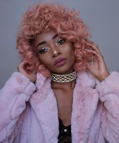 "Nyané Lebajoa on Instagram: ""Finally got that pink Afro! Yay or nay? """