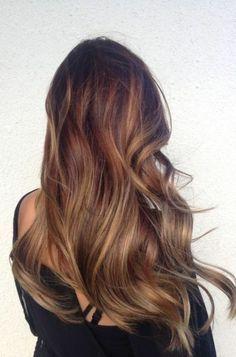 les cheveux longs, brunette, fille, tendance de couleur de cheveux