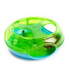 The cats and puppies would like this. The mouse inside squeaks and moves around inside when the animal paws it.