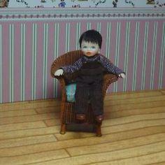 OOAK Miniature Handmade Sculpt Mini Doll Boy Dolls house 1/12 scale. Unpaid. | eBay