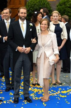 Princess Margarita de Bourbon de Parme and Tjalling ten Cate after the wedding of her brother Royal Highness Prince Jaime de Bourbon de Parma with Viktória Cservenyák in Apeldoorn, The Netherlands, 05.10.13