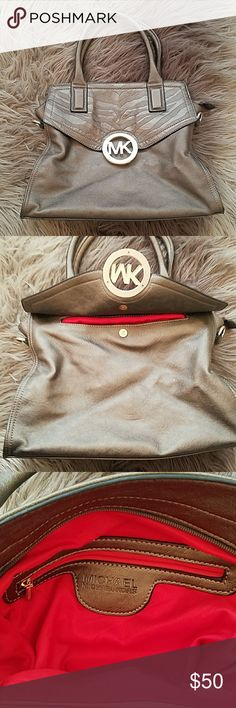 Bronze Handbag Bronzed purse.  Brand new.  3 compartments inside.  2 more on the outside.  Very roomy! Michael Kors Bags