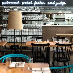 Hock Farm Restaurant with White Neon Sign, Remodelista