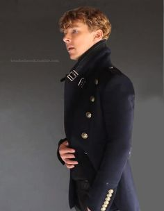 This photo shoot is one of my favorites because I adore him in that awesome coat. And plus GINGERBATCH!