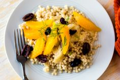Fennel and Orange Salad With Black Olives on a Bed of Couscous by Martha Rose Shulman