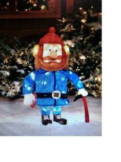 "Rudolph & Friends Yukon Cornelius 24"" 3-D Tinsel Christmas Decoration #christmas #xmas #decorations #outdoor #yardart"