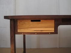 Walnut Desk with a Hickory Drawer