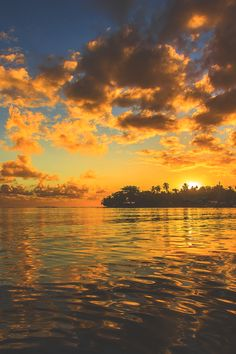 """elvenlake: """" south pacific sunset """""""