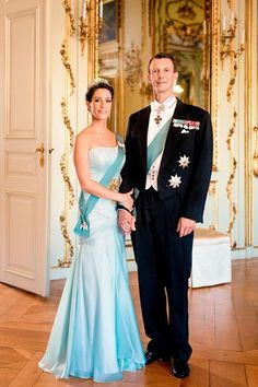 theirroyalhighnessespost: New official photo of Prince Joachim and Princess Marie released by the Danish Royal Court.
