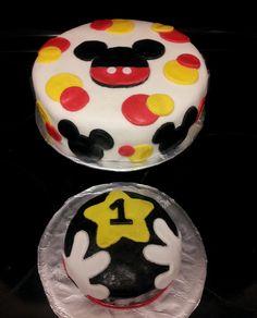 Mickey birthday by Pixie Sweets & Treats. Cake + smash cake.