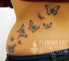 Afbeeldingsresultaat voor 3d vlinder tattoo