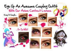 Anime and Cosplay Contact Lenses by colouredcontacts on Polyvore featuring beauty and Episode