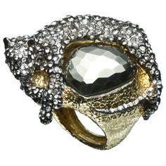 Siyabona Gold Pyrite Panther Ring :: Alexis Bittar