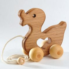 Items similar to Natural Wood toy, Animal Push Toy, Kids Toys Hardwood Wooden Toy Duck Push Toy - wooden kids toys Wooden Baby Toys animal toys on Etsy Toddler Gifts, Toddler Toys, Kids Toys, Wooden Baby Toys, Wood Toys, Wooden Animal Toys, Push Toys, Developmental Toys, Diy Holz