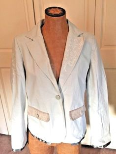 NEW WITHOUT TAGS Ladies Hard Rock Embroidered Jacket Blazer Khaki Sz L #HARDROCK #BasicJacket #Casual