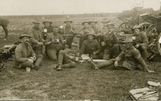 Soldiers having tea break. City Library, Lest We Forget, World War One, Wwi, Soldiers, New Zealand, Guns, History, Pictures