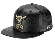 Chicago Bulls Leather Floral 59Fifty Fitted Baseball Cap by NEW ERA x NBA