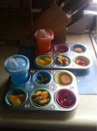 I don't even care about the healthy snack part, I just think this is a cool way to serve appetizers & drinks for a party (at any age)! Toddler Fun, Toddler Meals, Kids Meals, Baby Food Recipes, Snack Recipes, Healthy Recipes, Lunch Snacks, Kid Snacks, Lunches