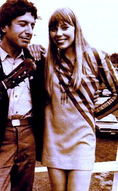 """I had no idea that Leonard Cohen and Joni Mitchell had a brief relationship. """"Leonard was a mirror to my work and with no verbal instructions, he showed me how to plumb the depths of my experience."""" - Joni Mitchell"""