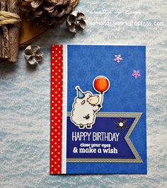 "I added ""Winter Birthday card 