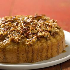 Oatmeal Cake; broiled nut topping and a sturdy oatmeal cake add up to a mighty fine old-fashioned dessert.
