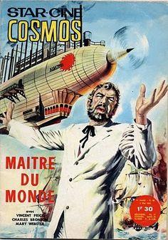 Vincent Price en Robur, el Conquistador del Mundo (Master of the World, 1961) en la portada de Star Ciné Cosmos