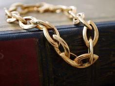 Vergoldetes Sterling Diamond Link Armband von HavenBoutique auf Etsy