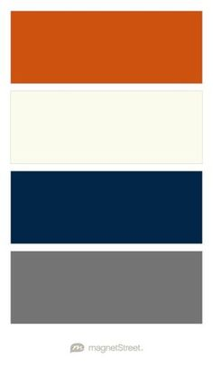 Pumpkin, Ivory, Navy, and Charcoal Wedding Color Palette - custom color palette created at MagnetStreet.com