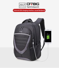 8d97d5e9eaad DTBG 2017 Bolsas Feminina Backpack External USB Charging Laptop Bags  Shoulder School Rucksack Worek Plecaki Anti