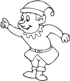 Elf on the shelf coloring page. Elf could leave these