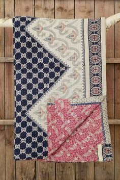 Just beautiful - made from vintage saris and lovingly sewn by trafficked women rebuilding their lives in Bangladesh. Only at Decorator's Notebook Shop. Kantha Quilt, Quilts, Indian Quilt, Purl Stitch, Duvet Sets, Textures Patterns, Quilting Designs, Sewing Projects, Textiles