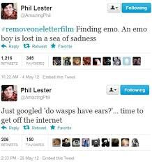 finding emo, a movie of dan howell Phil Lester, Dan And Phil Tweets, Dan Howell Tweets, Finding Emo, British Youtubers, Dan And Phill, Phil 3, Danisnotonfire And Amazingphil, Tyler Oakley